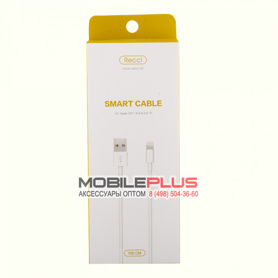 USB кабель 8pin для iPhone 5/6/7 Recci Smart RCL-Z100