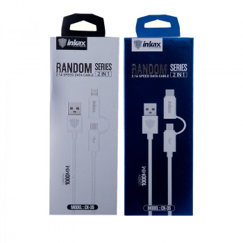"USB кабель 2в1 microUSB/iPhone 5/6/7 ""inkax"" CK-35"