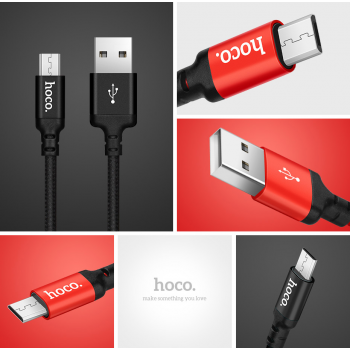 USB кабель microUSB HOCO X14 Times speed micro charging cable (L=2M)