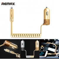 АЗУ 2в1 microUSB/Lightning iPhone 6/7/8/X с USB выходом Remax Finchy Series RCC103 3.4A