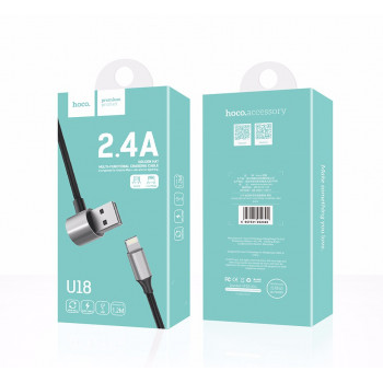 USB кабель 2в1 microUSB/ 8pin для iPhone 5/6/7 HOCO U18 золотойen hat multi-functional charging cable