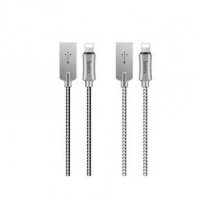 USB кабель 8pin для iPhone 5/6/7 HOCO U10 Zinc Alloy Reflective Knitted Lightning Charging Cable