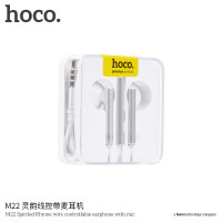 Наушники HOCO M22 Spirited Rhyme wire controllable earphone with mic